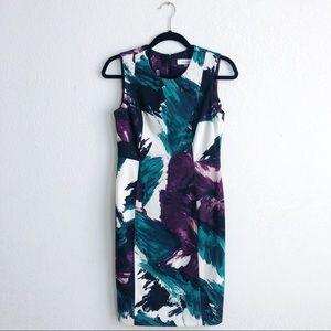 Calvin Klein Sleeveless Print Dress